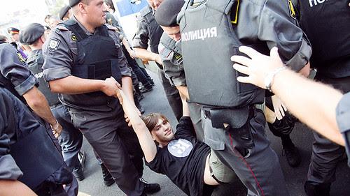 Москва, Триумфальная площадь, акция в защиту 31 статьи Конституции by hegtor