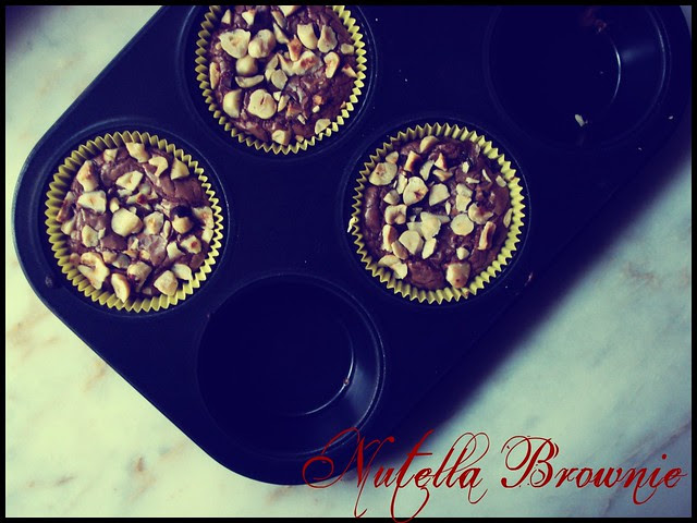 4 Ingredients Nutella Brownies