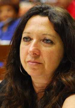 Alicia Jrapko, presidenta del Comité por la Liberación de Los Cinco