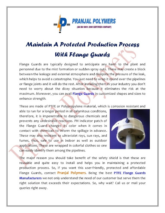 Maintain A Protected Production Process With Flange Guards