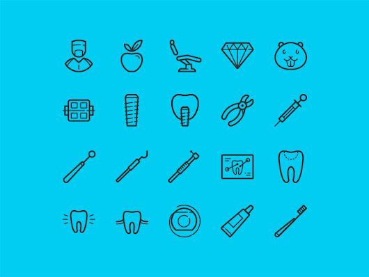 20 free dental icons - 365psd