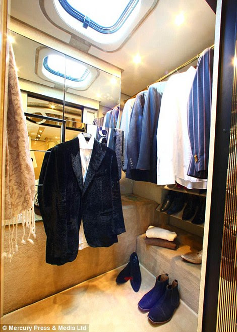 Sartorial: Owners of velour suits, stripey blazers and Chelsea boots will find ample space to store their wardrobe