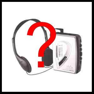 ¿¿¿cassette player???