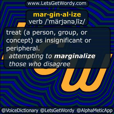 marginalize 09/04/2015 GFX Definition