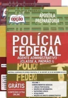 Apostila Polícia Federal (PF) Agente Administrativo (Impressa e PDF)