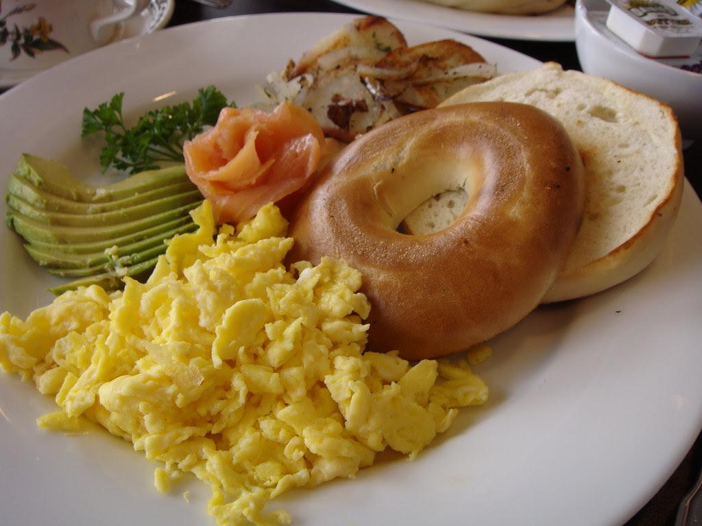 Eggs Scramble with Smoked Salmon