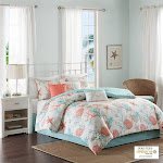 Buy Pebble Beach 7 Piece Comforter Set at easyhomelinks Orange / Queen