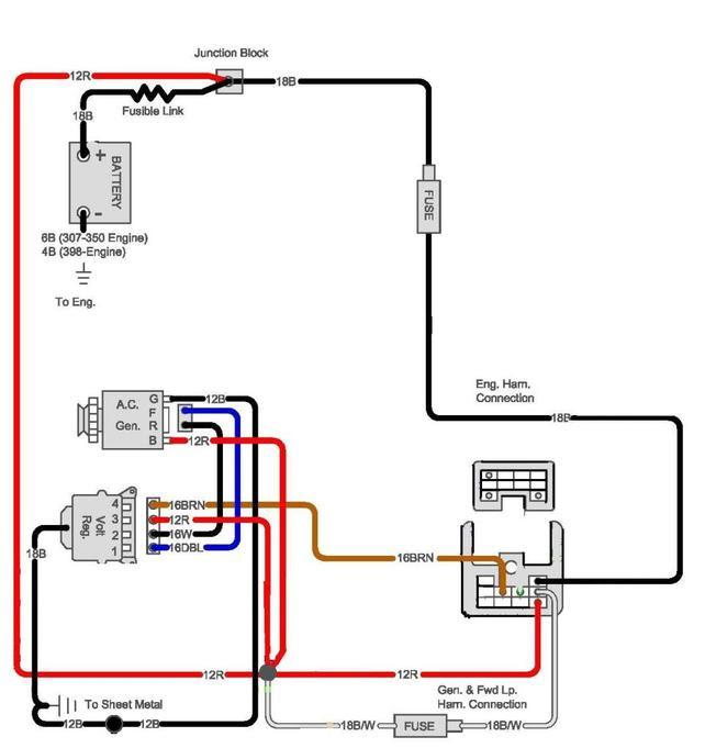 External Regulated Alternator Wiring Diagram