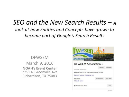 Bill Slawski SEO and the New Search Results