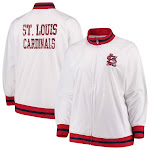 St. Louis Cardinals Majestic Women's Plus Size Full Zip Track Jacket - White