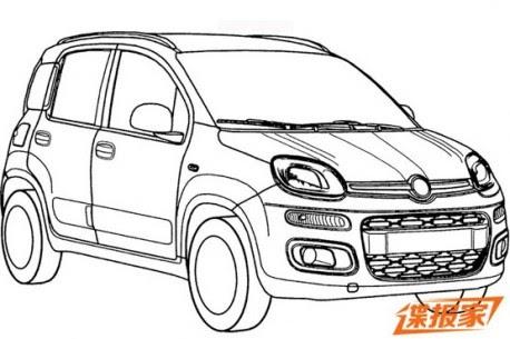 Cars of BRIC: Cina: Fiat deposita i disegni della Fiat Panda