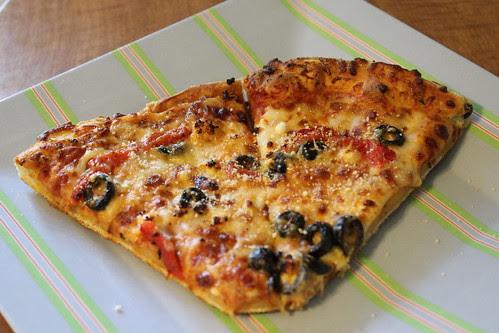 Feta, Olive, Roasted Red Pepper Pizza