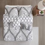 510 Design Duvet Cover Gray Arabesque Five-Piece Reversible Duvet Set King/Cal King