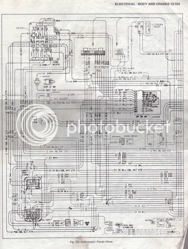 Fuse Box Diagram 69 Nova Chevy Nova Forum