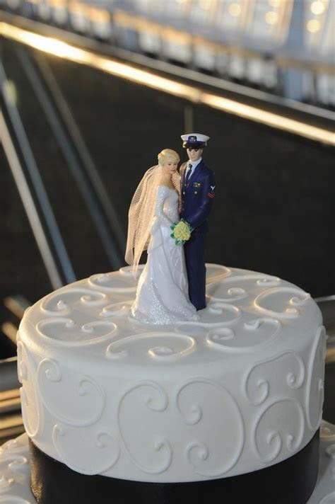 Coast Guard Nautical Wedding Cake Topper   My Nautical