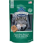 Blue Wilderness Trail Treats Dog Treats, Natural Crunchy, Grain-Free Biscuits, Duck Recipe - 10 oz