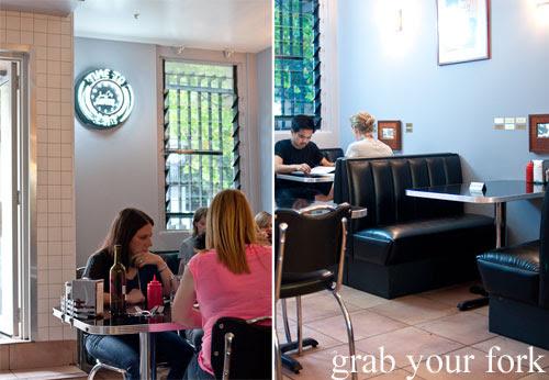 diner booths at jazz city diner darlinghurst
