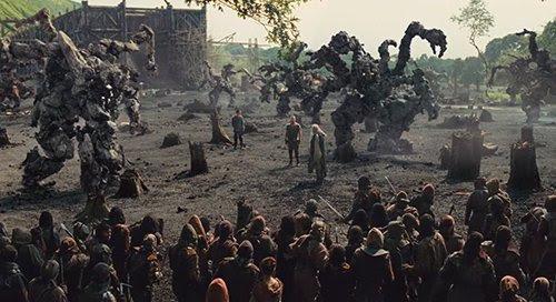 Noah é auxiliado por um grupo de grandes monstros feitos de rocha chamado os Giants.  Muitos espectadores foram adiadas pelo Senhor do tipo anel de adição fantasia CGI.