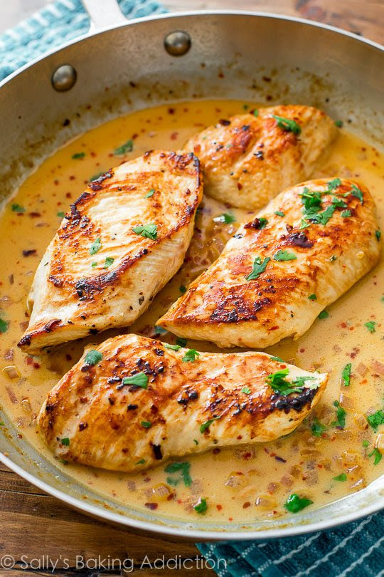Chicken with Creammy Cilantro Lime Sauce