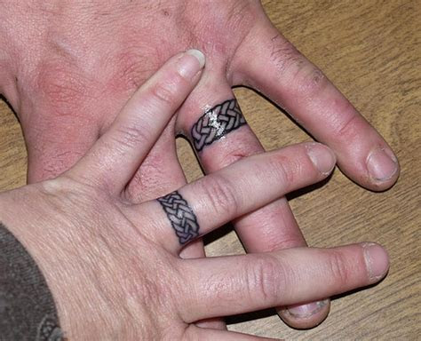 celtic knot wedding ring tattoo design