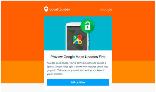 Level 6+ Local Guides can apply to preview new Google Maps features before they go public
