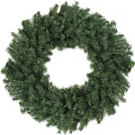 Canadian Pine Artificial Christmas Wreath - 24-Inch, Unlit by Christmas Central