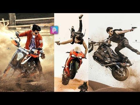 Picsart Action Bike Stunt Photo Editing Tutorial In Picsart Step by step || Druve Guru