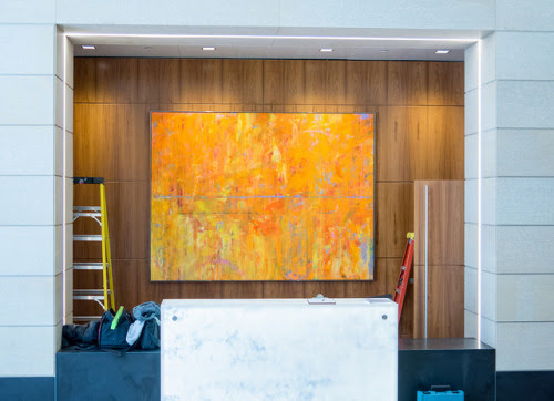 "Installation of ""600"" in Washington DC today. ... 