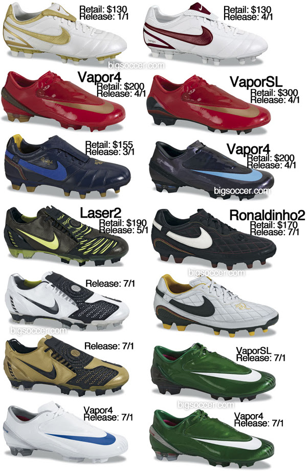 Nike football boots for 2008