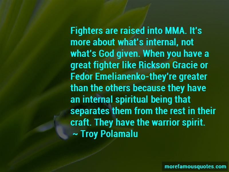 Great Mma Fighter Quotes Top 1 Quotes About Great Mma Fighter From