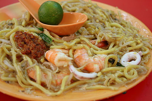 Charcoal Fried Hokkien Prawn Mee