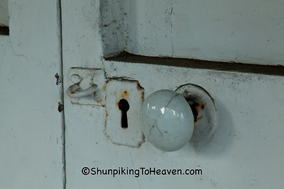 Doorknob and Keyhole on Old Store, Perryville, Kentucky