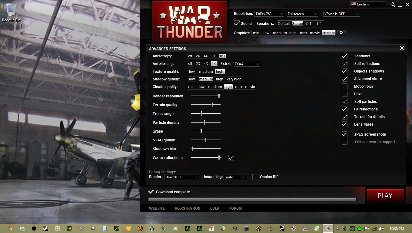 What graphics settings do War Thunder players use? - Page 2 - Realistic Battle Discussion - War ...