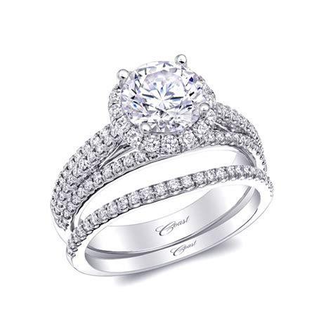 Coast Diamond Wedding Ring Set of the Week: Round Halo