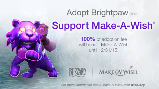 World of Warcraft Pet Brightpaw Available for Gifting