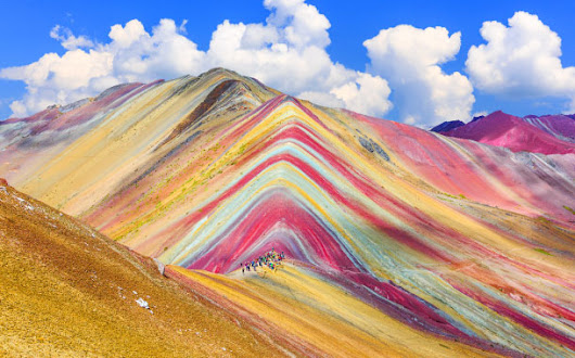 Where can you spot the Rainbow mountain