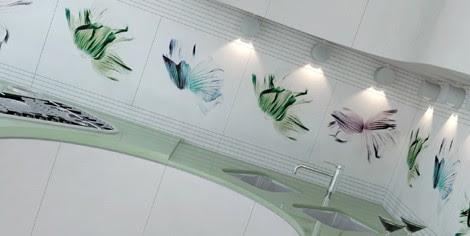 Flower Pattern Tiles from Viva Ceramica - White Flowers and ...