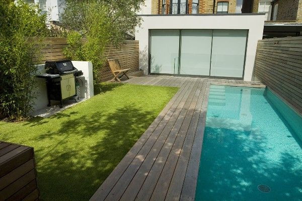 Small Garden with Swimming Pool