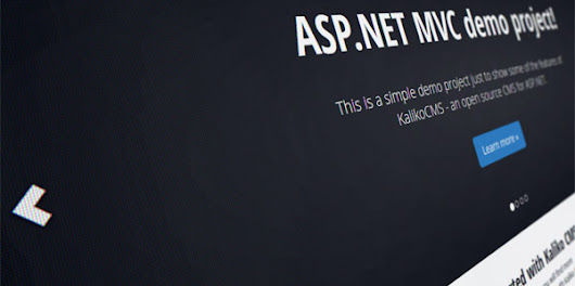 Build a website with Kaliko CMS using ASP.NET MVC