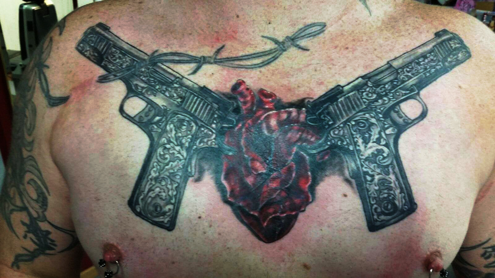 Chest Tattoo Images Designs