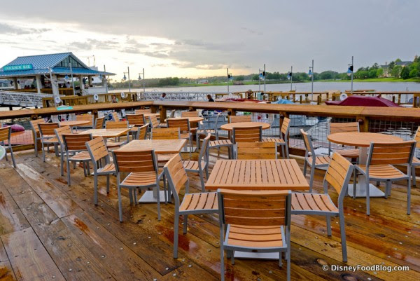 Teak Tables and Chairs with a View