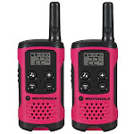 Motorola T107 22-CH 16 Mile Two-Way Radio, 2 Pack, Neon Pink T107