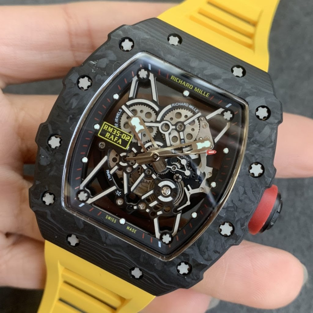Replica Richard Mille RM35-02 Yellow Carbon Watch