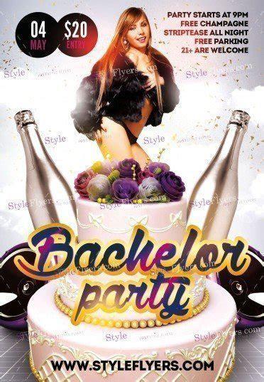 Bachelor Party PSD Flyer Template #17851   Styleflyers