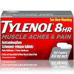 Tylenol 8 Hr Muscle Aches & Pain, 650 mg, Caplets - 100 caplets