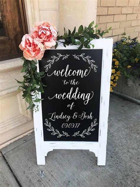 Welcome To The Wedding Of Sign   Wedding Chalkboard