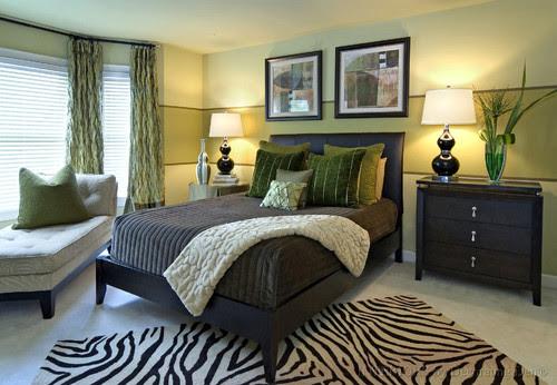 Calming green master bedroom contemporary bedroom