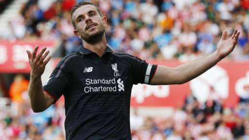 Jordan Henderson reacts