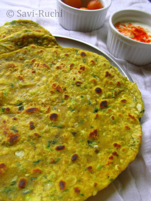 cabbage & spinach paratha