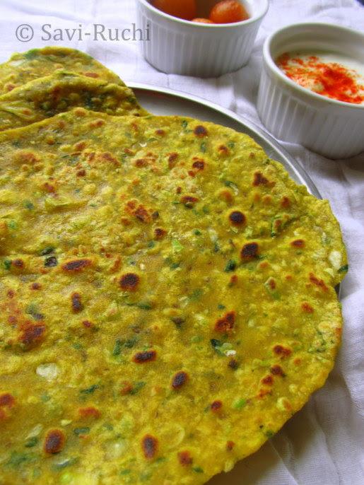 cabbage & spinach paratha
